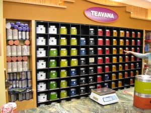 Teavana wall o' tea