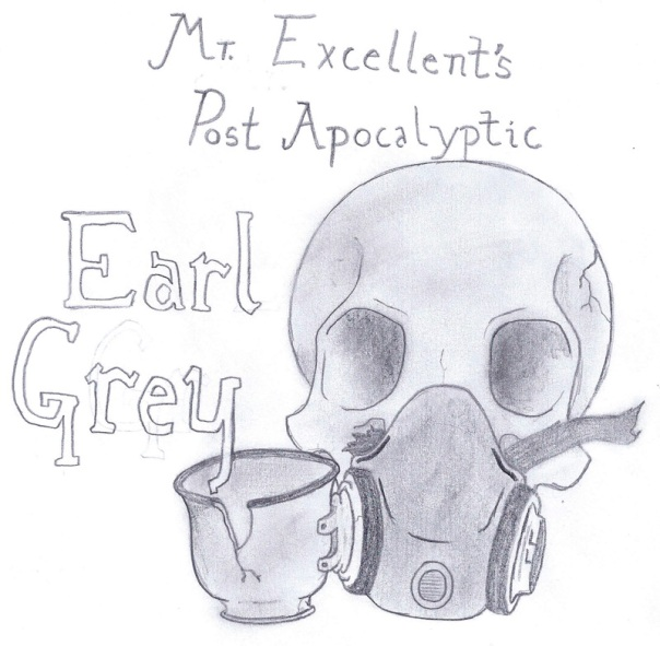 Mr. Excellent's Post-Apocalyptic Earl Grey original logo sketch