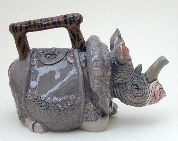 Amelia Rhino teapot
