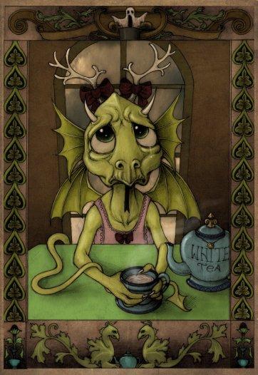 White Tea Dragon by Thomas S Brown