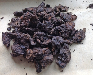 Gold Nugget pu-erh nuggets