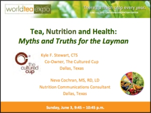 Tea, Nutrition and Health slide