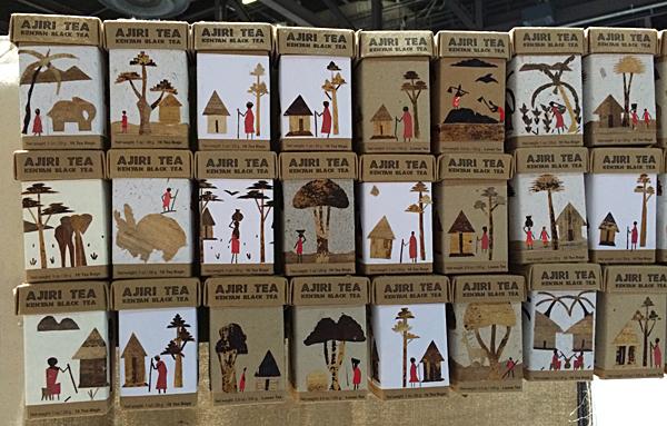 Ajiri tea boxes