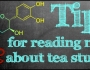 Tips for reading news about tea studies